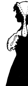 Silhouette of Colonial Woman