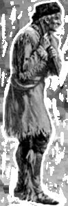 Black & White Drawing of Old Man