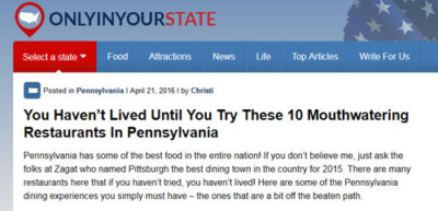 Citation on website onlyinyourstate.com