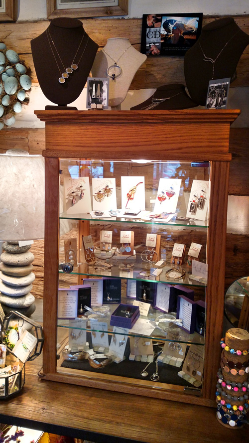Artisan Items and Hand Wrought Jewelry including Beautiful Necklaces, Pins, Bracelets.