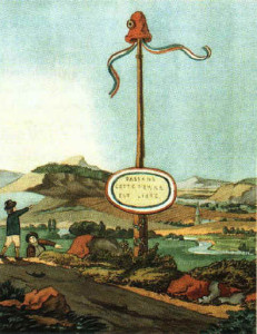 Early image of a Liberty Pole from Wikipedia
