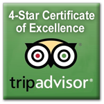 Trip Advisor Icon 4 Star Award of Excellence