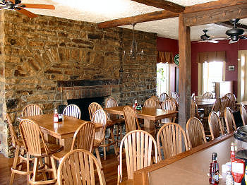 Tavern at Jean Bonnet with Stone Fireplace