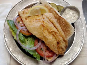 Fish Sandwich at the Jean bonnet Tavern