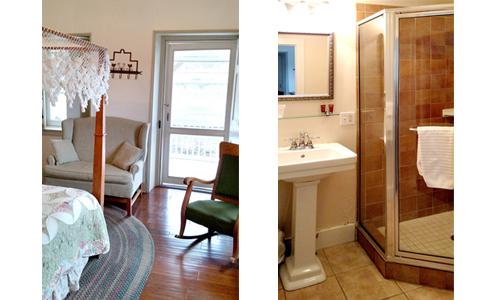 VIew of Bedroom Porch door and Corner Shower